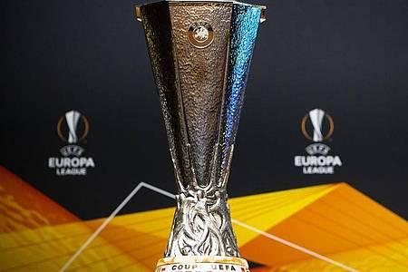 Wegen der Corona-Krise wird die Endrunde der Europa League in NRW ausgespielt. Foto: Jean-Christophe Bott/KEYSTONE/dpa