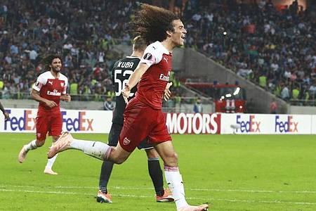 Arsenals Matteo Guendouzi steht am Deadline Day vor einer einjährigen Leihe zu Hertha BSC. Foto: Aziz Karimov/AP/dpa