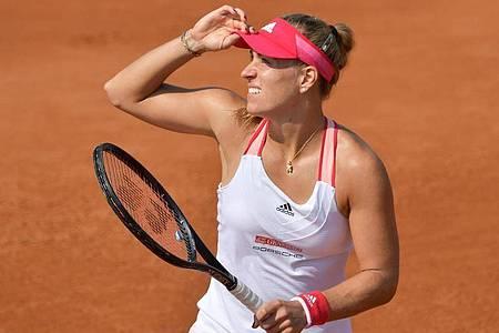 Die dreimalige Grand-Slam-Siegerin Angelique Kerber hofft trotz der kurzen Vorbereitung auf erfolgreiche French Open. Foto: Alfredo Falcone/LaPresse via ZUMA Press/dpa