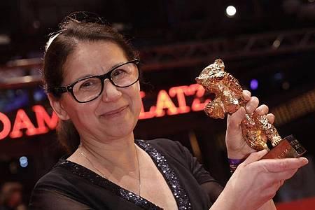Ildiko Enyedi gewann den Goldenen Bären im Jahr 2017. Foto: picture alliance / Jörg Carstensen/dpa