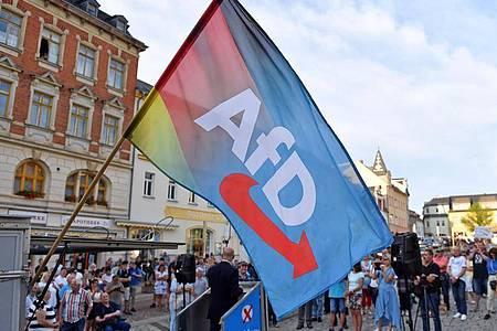 Eine AfD-Kundgebung in Sachsen. Foto: Hendrik Schmidt/dpa-Zentralbild/dpa