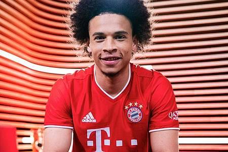 Leroy Sané hat seine erste Trainingseinheit beim FC Bayern absolviert. Foto: -/FC Bayern/dpa