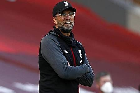 Jagt mit Liverpool weiter den Punkterekord: Reds-Coach Jürgen Klopp. Foto: Clive Brunskill/Nmc Pool/PA Wire/dpa