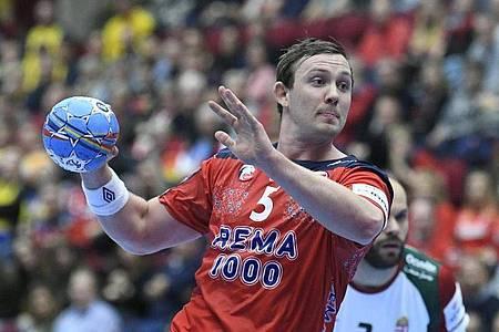 Will endlich wieder Handball spielen: Der Norweger Sander Sagosen. Foto: Johan Nilsson/TT NEWS AGENCY/AP/dpa