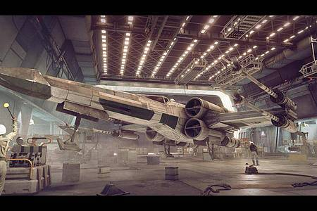In «Star Wars Squadrons» können Spielende zwischen verschiedenen Sternenjägern als Flug- und Kampfgerät wählen. Foto: STAR WARS/Lucasfilm Ltd/Electronic Arts Inc/dpa-tmn