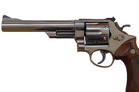 Eine Waffe vom Typ Smith & Wesson 44 Magnum (Polizeifoto) wurde gestohlen. Foto: -/Metropolitan Police/dpa