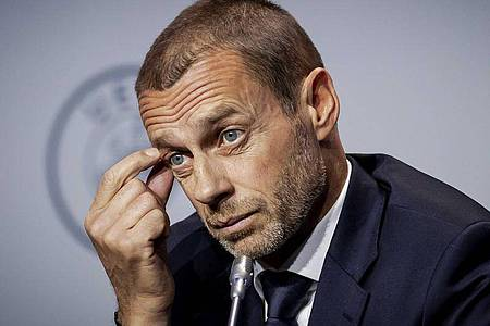 """Plant weiterhin bei der EM mit einem paneuropäischen Turnier: Aleksander Ceferin, UEFA-Präsident. Foto: """"robin Van Lonkhuijsen""""/ANP/dpa"""