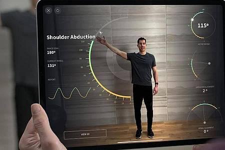 Dank verbesserter Sensorik mit Lidar sollen mit dem iPad Pro noch präzisere Messungen und Anwendungen mit Augemented Reality möglich sein. Foto: Apple/dpa-tmn