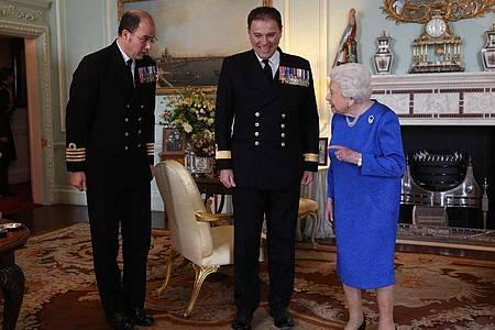 Privataudienz im Privataudienzzimmer der Königin im Buckingham-Palast. Foto: Yui Mok/PA Wire/dpa