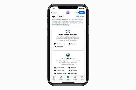 Tracking ist künftig tabu - es sei denn, man erlaubt als iOS-14-Anwender ausdrücklich, dass man sich bei der Smartphone-Nutzung und beim Surfen «zuschauen» lassen darf. Foto: Apple Inc./dpa-tmn