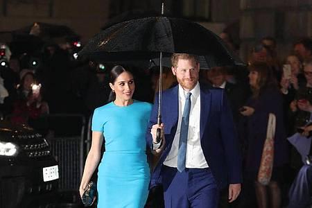 Prinz Harry und Herzogin Meghan wollen keinen von den USA finanzierten Personenschutz in Anspruch nehmen. Foto: Steve Parsons/PA Wire/dpa
