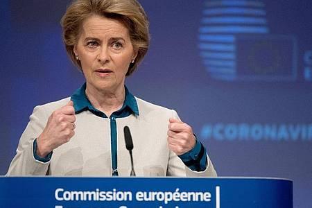 Ursula von der Leyen prüft ein Verfahren gegen Deutschland. Foto: Etienne Ansotte/European Commission/dpa