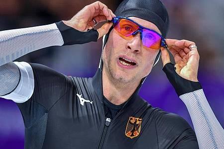 Überraschte die Kündigung von Eisschnelllauf-Bundestrainer Bouwman: Moritz Geisreiter. Foto: Peter Kneffel/dpa
