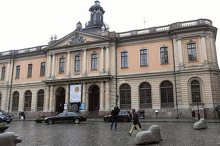 Der Sitz der Schwedischen Akadamie. Foto: Fredrik Sandberg/TT News Agency/dpa