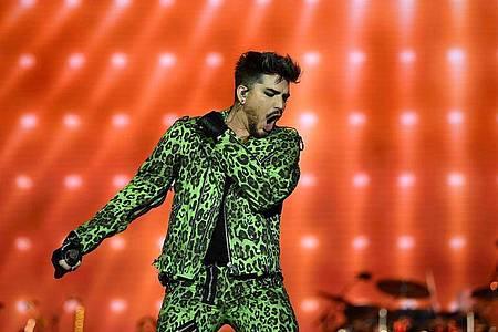 Adam Lambert ist auch als Frontmann der Rockband Queen unterwegs. Foto: Joel Carrett/AAP/dpa