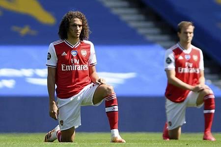 Matteo Guendouzi (l) kam beim FC Arsenal zuletzt nicht mehr zum Zug. Foto: Mike Hewitt/Pool Getty/AP/dpa