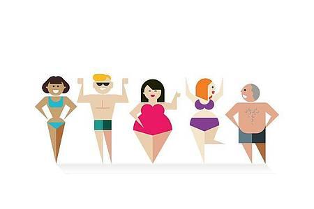 Zeigt her, was ihr habt! Bei Body Positivity geht es darum, den eigenen Körper lieben zu lernen und vermeintliche Makel nicht mehr schamvoll zu verstecken. Foto: dpa-infografik GmbH/dpa-Themendienst