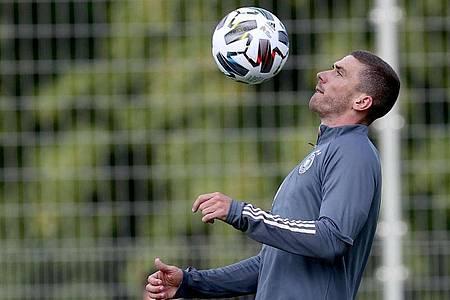 Soll gegen Spanien sein A-Länderspiel-Debüt geben: Robin Gosens. Foto: Christian Charisius/dpa