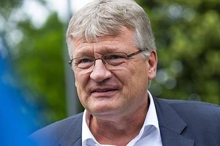 AfD-Parteichef Jörg Meuthen beim Bundeskonvent der Partei in Lommatzsch. Foto: Matthias Rietschel/dpa-Zentralbild/dpa