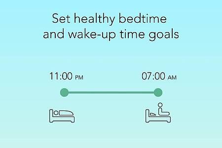 «Sleeptown»: Wer rechtzeitig ins Bett geht und lange genug schläft, wird in der App mit einem virtuellen Haus belohnt. Foto: SEEKRTECH CO., LTD/dpa-tmn
