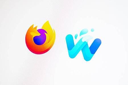Links das Firefox-Logo, rechts das des Waterfox-Browsers. Foto: Zacharie Scheurer/dpa-tmn