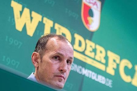 Will das Beste aus der Situation machen: Der neue Augsburger Trainer Heiko Herrlich. Foto: Stefan Puchner/dpa