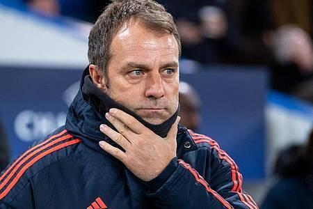 Trainer Hansi Flick und die Bayern rechnen sich in der Champions League Titelchancen aus. Foto: Sven Hoppe/dpa