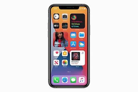 Mit den neuen Widgets in iOS 14 sollten Apple-Nutzer permanent Zugriff auf bestimmte App-Funktionen bekommen. Foto: Apple Inc./dpa-tmn