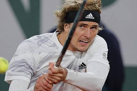 Alexander Zverev will in Paris den nächsten Schritt machen. Foto: Christophe Ena/AP/dpa