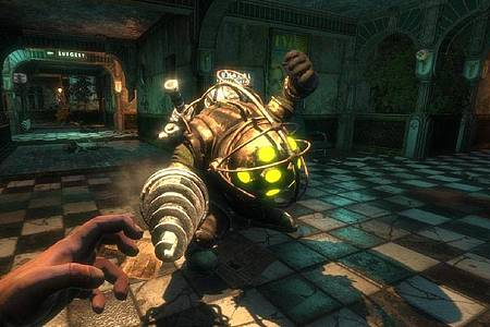 Horror-Abenteuer im Art-Deco-Look:«Bioshock» spielt in der Unterwasserstadt Rapture - mit teils sehr merkwürdigen Bewohnern. Foto: 2K Games/dpa-tmn