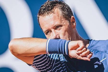 Ist bei den French Open bereits früh ausgeschieden: Philipp Kohlschreiber. Foto: Expa/Jfk/APA/dpa