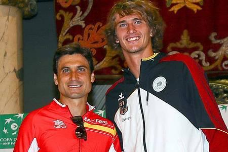 David Ferrer (l) könnte der nächste Coach von Alexander Zverev sein. Foto: JOSE M. FERNANDEZ DE VELASCO/gtres/dpa
