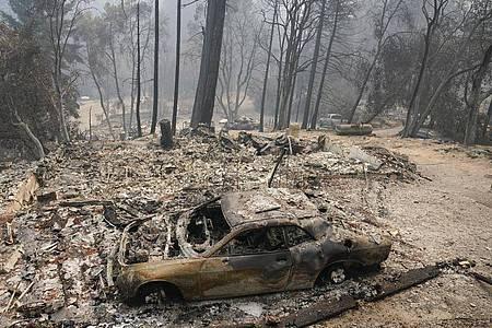 Etwas kühlere Temperaturen haben die Löscharbeiten in Kalifornien begünstigt. Die Schäden sind jedoch bereits immens. Foto: Marcio Jose Sanchez/AP/dpa