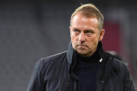 Hansi Flick verteidigt Bundestrainer Joachim Löw gegen die Kritik. Foto: Sven Hoppe/dpa-Pool/dpa