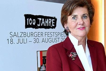 Helga Rabl-Stadler, Präsidentin der Salzburger Festspiele. Foto: Barbara Gindl/APA/dpa