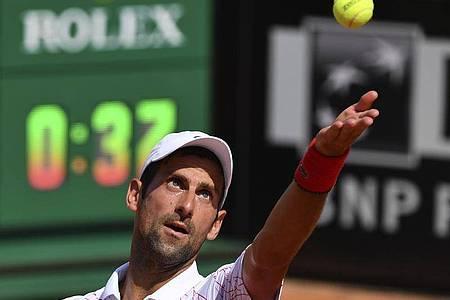 Novak Djokovic steht in Rom im Viertelfinale. Foto: Alfredo Falcone/LaPresse/dpa