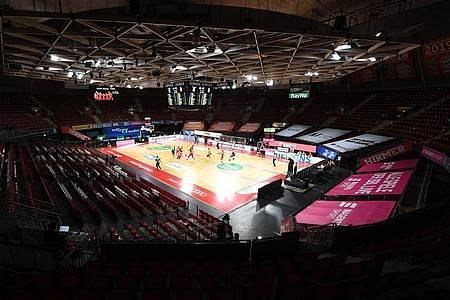 Das Finalturnier der Basketball-Bundesliga in München wird ohne Zuschauer ausgetragen. Foto: Matthias Balk/dpa-Pool/dpa