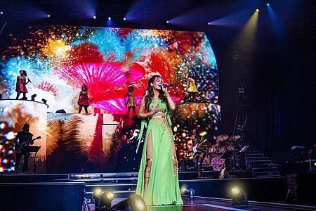 Als die Welt noch normal war:Andrea Berg auf der Bühne. Foto: ZDF/Anelia Janeva/dpa