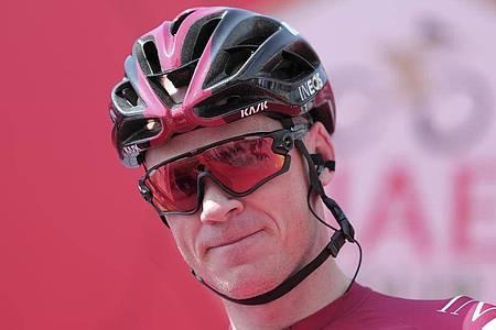 Muss offenbar um sein Tour-Ticket bangen:Chris Froome. Foto: Mahmoud Khaled/AP/dpa