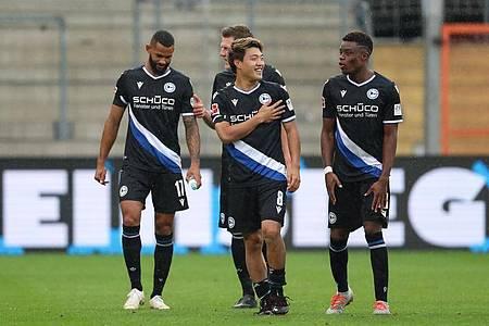 Arminia Bielefeld droht gegen den FCBayern ein Spiel vor leeren Rängen. Foto: Friso Gentsch/dpa