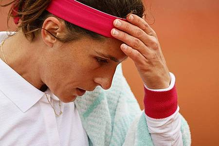 Muss die French Open bereits nach der ersten Runde beenden: Andrea Petkovic. Foto: Thomas Samson/AFP/dpa