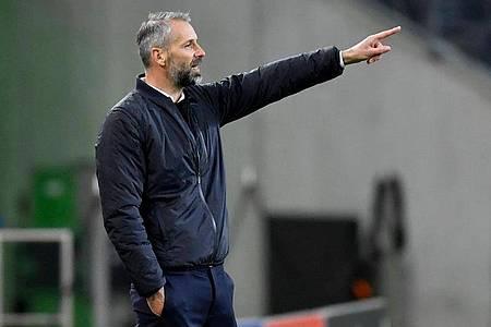 Gladbach-Trainer Marco Rose zeigt sich nach dem Unentschieden gegen Real Madrid «schwer enttäuscht». Foto: Marius Becker/dpa