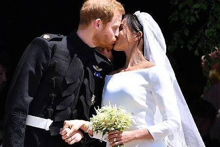 Am 19. Mai 2018 feierten Prinz Harry und Maghan Markle Hochzeit - und die Welt schaute ihnen zu. Foto: Ben Stansall/PA Wire/dpa
