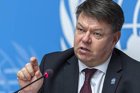Petteri Taalas, Generalsekretär der Weltorganisation für Meteorologie (WMO. Foto: Martial Trezzini/KEYSTONE/dpa