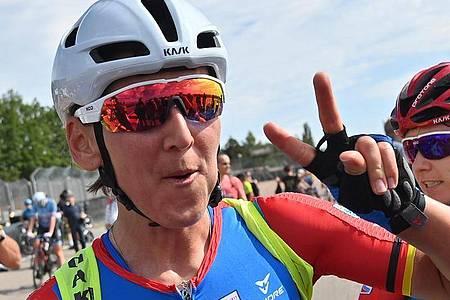 Erneut deutsche Meisterin im Straßenrennen: Lisa Brennauer. Foto: Hendrik Schmidt/dpa-Zentralbild/dpa