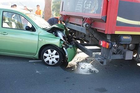 Der Nissan wurde schwer beschädigt.