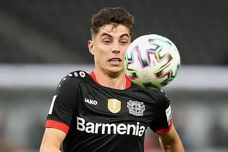 Auf der Suche nach einem neuen Verein: Leverkusens Kai Havertz in Aktion. Foto: Alexander Hassenstein/Getty Images Europe/Pool/dpa