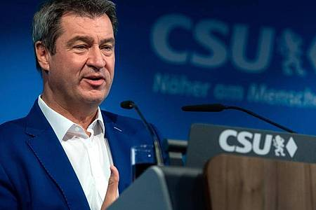 Das virtuelle CSU-Treffen startet mit einer Grundsatzrede von Parteichef Markus Söder. Foto: Sven Hoppe/dpa