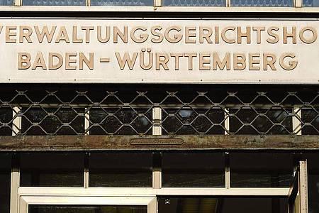 Der Verwaltungsgerichtshof Baden-Württemberg in Mannheim. Foto: Uwe Anspach/dpa