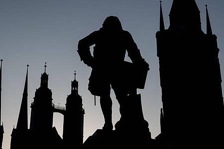 Denkmal für Georg Friedrich Händel in Halle. Foto: Hendrik Schmidt/dpa-Zentralbild/dpa